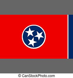State flag of Tennessee. Digital reproduction.