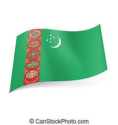 State flag of Turkmenistan