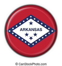 state), forma, bandera, arkansas, botón, (usa, redondo