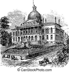 State House or Massachusetts State House or The New State...