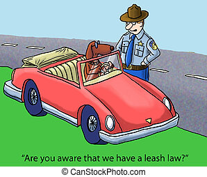 "State Laws - ""Are you aware that we have a leash law?"""