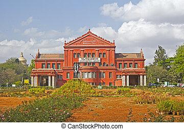 FEBRUARY 24, 2014, BANGALORE, KARNATAKA, INDIA - State library in Cubbon park, Bangalore