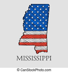 State Mississippi - vector illustration.