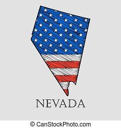 State Nevada - vector illustration. - State Nevada in ...