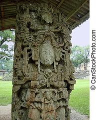 state of a god in copan ruinas honduras