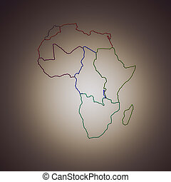 State of Africa on a brown background