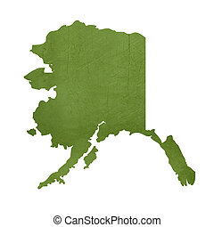State of Alaska - American state of Alaska isolated on white...