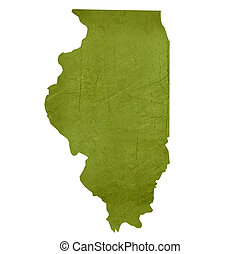 State of Illinois - American state of Illinois isolated on...