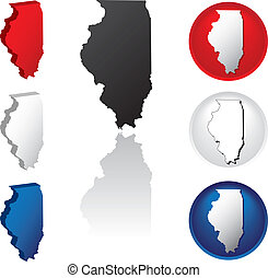 State of Illinois Icons - Illinois Icons