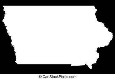 State of Iowa - black background