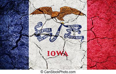 State of Iowa flag