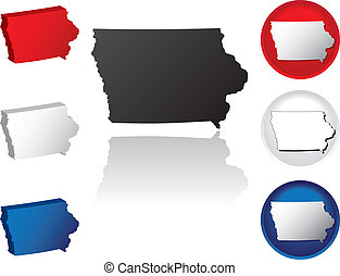 State of Iowa Icons