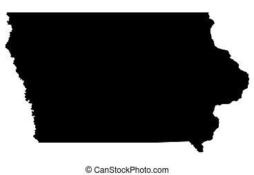 State of Iowa - white background
