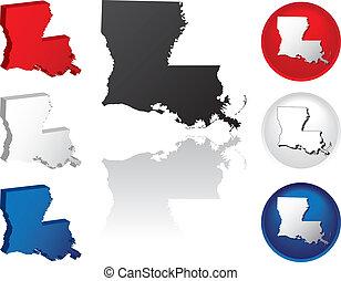 State of Louisiana Icons - Louisiana Icons