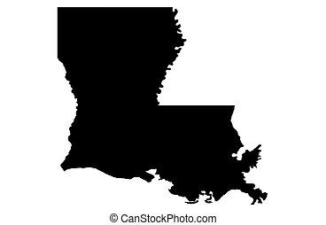 State of Louisiana - white background