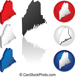 State of Maine Icons - Maine Icons