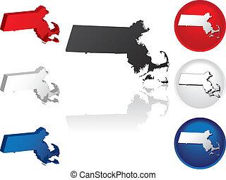 State of Massachusetts Icons
