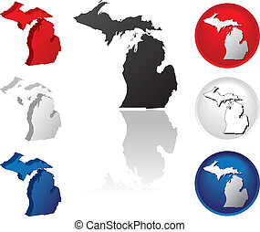 State of Michigan Icons - Michigan Icons