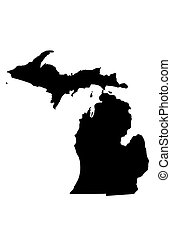 State of Michigan - white background