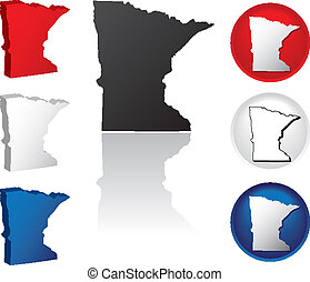 State of Minnesota Icons - Minnesota Icons