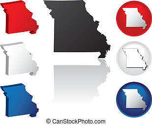 State of Missouri Icons
