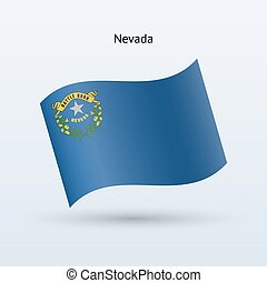 State of Nevada flag waving form. Vector illustration.