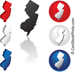 State of New Jersey Icons