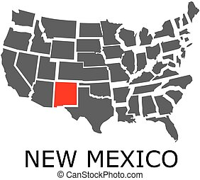 Collage Map Of New Mexico State With Gear Wheels Map Of New