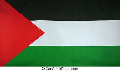 State of Palestine Flag real fabric - Textile flag of State...