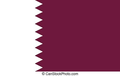 State of qatar flag, Doha. Middle east Arab country. - State...