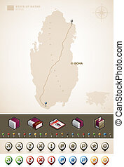 State of Qatar - Qatar and Asia maps, plus extra set of ...