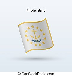 State of Rhode Island flag waving form.