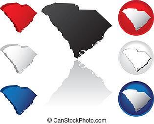 State of South Carolina Icons