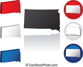 State of South Dakota Icons - South Dakota Icons