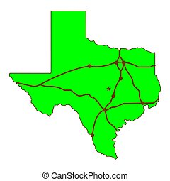 State of texas map logo vector.
