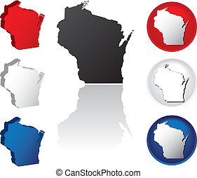 State of Wisconsin Icons - Wisconsin Icons