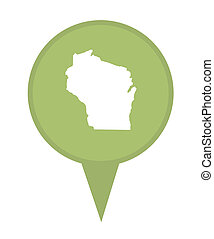 State of Wisconsin map pin