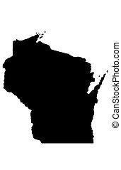 State of Wisconsin - white background
