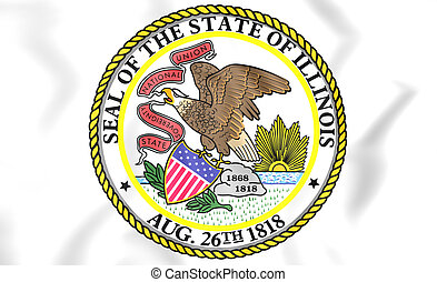 State Seal of Illinois, USA.