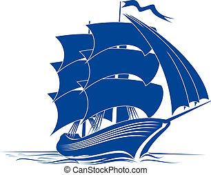 statek, brygantyna