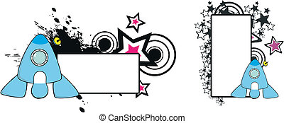 statek kosmiczny, copyspace1, rysunek