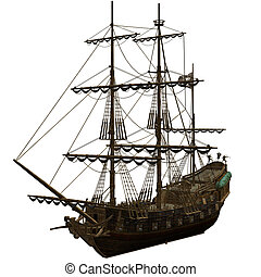 statek, pirat