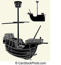 statek, starożytny