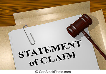 Statement of Claim - legal concept