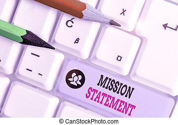 statement., vise, showcasing, écriture, photo, company., projection, résumé, mission, valeurs, formel, note, business