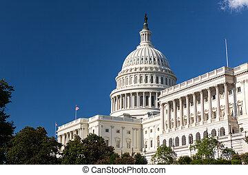 staten, gebouw, verenigd, capitool, dc