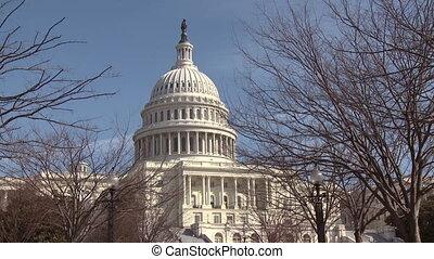 staten, gebouw, verenigd, capitool