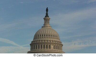 staten, gebouw, verenigd, capitool, zoom