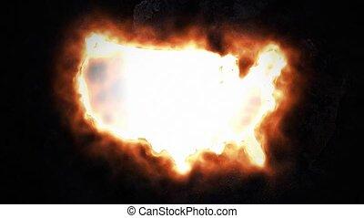 staten, kaart, 49., verenigd, amerika