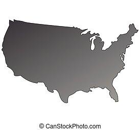 staten, kaart, verenigd